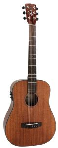 Cort Earth Mini F ABW NAT Mini Electro Acoustic Guitar with gig bag